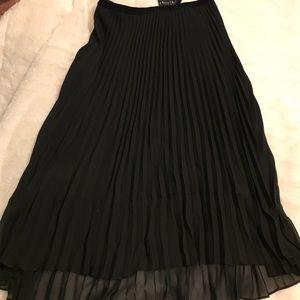 WHBM Pleated Midi Skirt